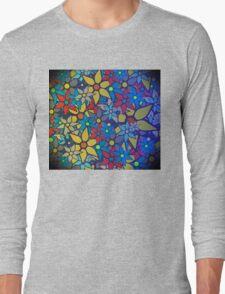 Trendy Floral Pattern Long Sleeve T-Shirt