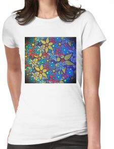 Trendy Floral Pattern Womens Fitted T-Shirt