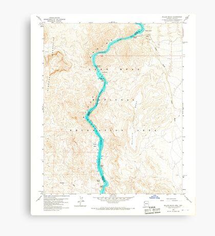 USGS TOPO Map Arizona AZ Willow Beach 314127 1959 24000 Canvas Print