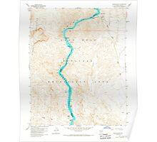 USGS TOPO Map Arizona AZ Willow Beach 314127 1959 24000 Poster