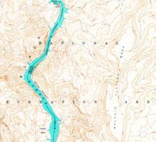 USGS TOPO Map Arizona AZ Willow Beach 314127 1959 24000 Sticker