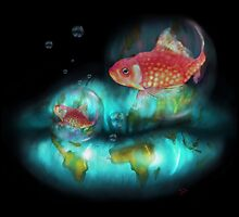 Goldfish Bubbles by SouthPawPics
