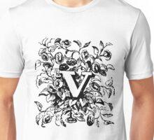 Plant Alphabet Letter V Unisex T-Shirt