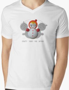 Can't Keep Me Down!  Roly-poly doll as Symbol of Resilience Mens V-Neck T-Shirt