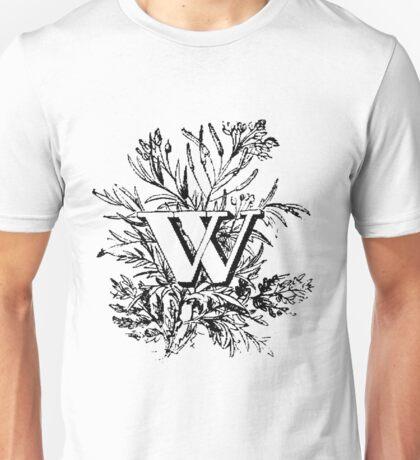 Plant Alphabet Letter W Unisex T-Shirt