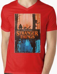 stranger things Mens V-Neck T-Shirt