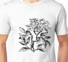 Plant Alphabet Letter Y Unisex T-Shirt