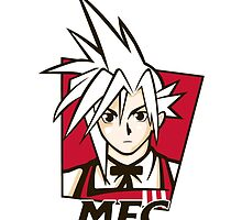 t shirt Midgar Fried Chocobo KFC MFC Cloud Strife final fantasy 7 VII by KokoBlacksquare