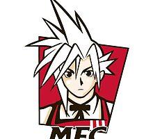 t shirt Midgar Fried Chocobo KFC MFC Cloud Strife final fantasy 7 VII by KokoBlacksquare