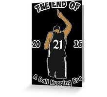 WE WILL MISS YOU TIM DUNCAN Greeting Card