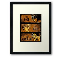 The Good, the Bad and the Shinigami Framed Print