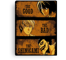 The Good, the Bad and the Shinigami Canvas Print