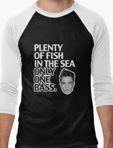 Plenty of Fish in the Sea. Only One Bass.  Men's Baseball ¾ T-Shirt