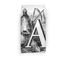 Renaissance Alphabet Letter A  Duvet Cover