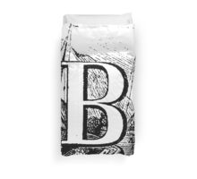 Renaissance Alphabet Letter B  Duvet Cover