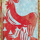 Christmas Rooster 2 tone by geot