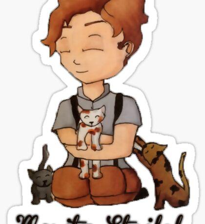 Moritz Stifel with Kittens Sticker