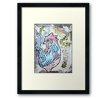 Rooster Road Framed Print