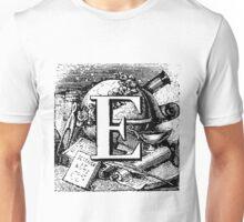 Renaissance Alphabet Letter E Unisex T-Shirt