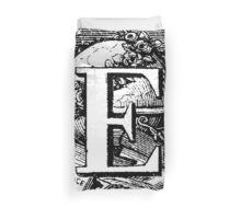 Renaissance Alphabet Letter E Duvet Cover