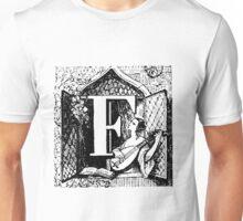 Renaissance Alphabet Letter F Unisex T-Shirt