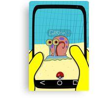 SpongeBob GO! Gary Snail Canvas Print