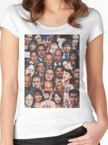 The Office Collage  Women's Fitted Scoop T-Shirt