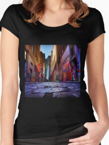 Laneway in Melbourne Women's Fitted Scoop T-Shirt