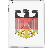 German Eagle Federal Coat of Arms in Germany Flag Water Colors iPad Case/Skin