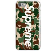Supreme x A Bathing Ape Bape Camo  iPhone Case/Skin