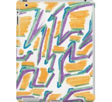 Lines and Color shadows iPad Case/Skin