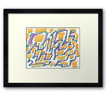 Lines and Color shadows Framed Print