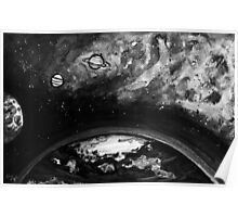 Space Ink Painting Poster