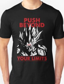 super saiyan vegeta push beyond your limits - RB Unisex T-Shirt