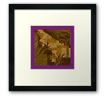 Topographical Art: Maps & Apps Series Framed Print