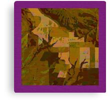 Topographical Art: Maps & Apps Series Canvas Print