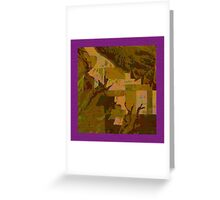 Topographical Art: Maps & Apps Series Greeting Card