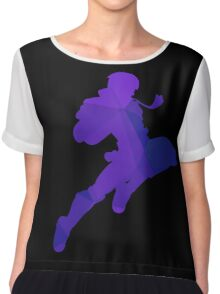 Captain Falcon - Fractal Knee of Justice Chiffon Top