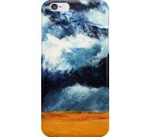 Storm Clouds Over Illinois Wheat Fields Acrylics On Canvas iPhone Case/Skin