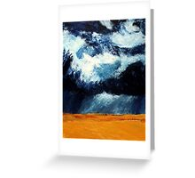Storm Clouds Over Illinois Wheat Fields Acrylics On Canvas Greeting Card