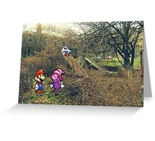 Mario Ghost Park Greeting Card