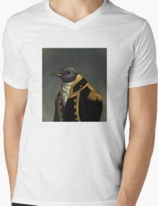 Captain Penguin  Mens V-Neck T-Shirt