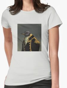 Captain Penguin  Womens Fitted T-Shirt