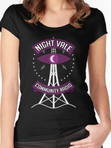 Night Vale Community Radio Women's Fitted Scoop T-Shirt