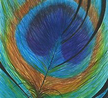Peacock Feather by Melody Hall-Fuller