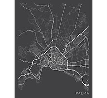 Palma Map, Spain - Gray Photographic Print