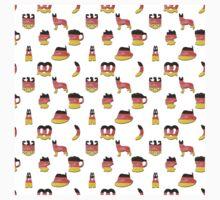 3D German Oktoberfest in Hand-Painted German Flag Colors Kids Tee