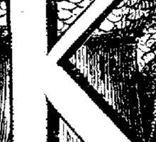 Renaissance Alphabet Letter K Sticker