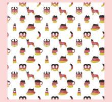 German Motifs in Hand-Painted Colors of German Flag One Piece - Short Sleeve