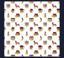 German Motifs in Hand-Painted Colors of German Flag Kids Tee
